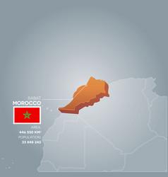 Morocco information map vector