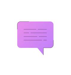 neon chat bubble line icon vector image