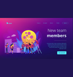 New team members concept landing page vector