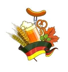 Octoberfest festival cartoon design with glass of vector