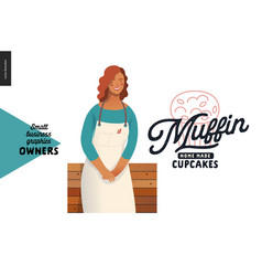 Owners - small business graphics - muffins vector