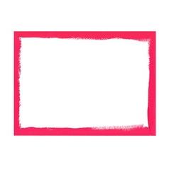 Pink grunge frame vector