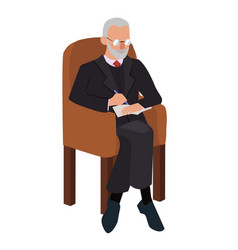 psychologist in chair adult man vector image