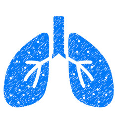 Respiratory system grunge icon vector