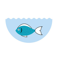 Sea fish isolated icon vector
