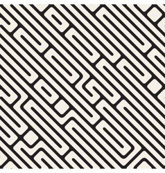 Seamless Black And White Daigonal Maze vector image