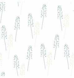 seamless pattern with shepherds purse vector image