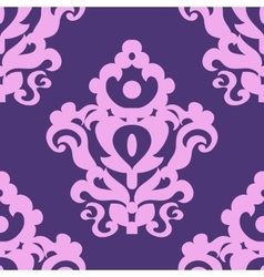 Seamless texture with a classic pattern in violet vector image