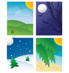 Seasonal Backgrounds vector