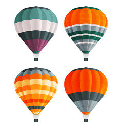 Set colorful air balloons at white background vector