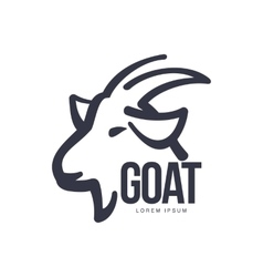Side view goat head logo for meat and dairy vector image