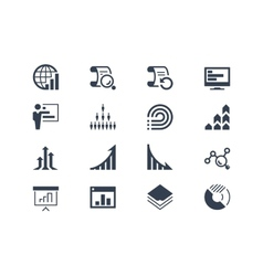Statistics and report icons vector image