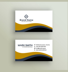 Stylish wavy business card design vector