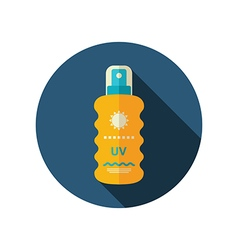 Sun Cream in Spray flat icon Summer Vacation vector