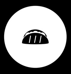 Tortilla mexico fast food simple black icon eps10 vector