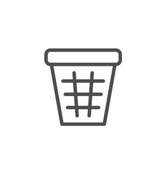 trash basket line icon vector image