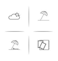 travel simple linear icons set outlined icons vector image