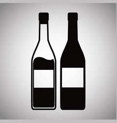 Two bottle wine image vector