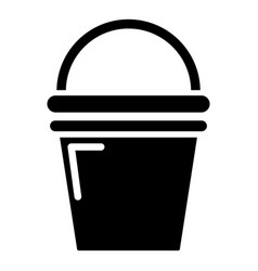 Water bucket icon simple style vector