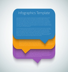 Web Infographic Timeline Bubble Template Layout vector image