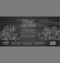 woodland blackboard background vector image