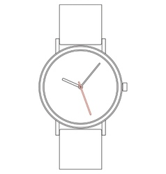 Wristwatch EPS8 vector