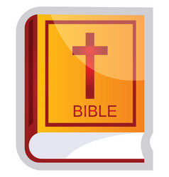 yellow and red a bible on a white background vector image