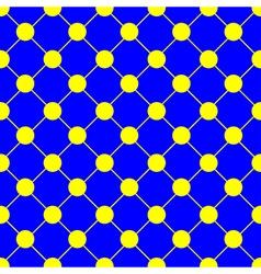 Yellow Polka dot Chess Board Grid Blue vector