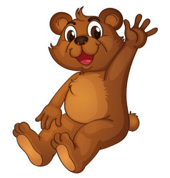 Animated bear vector image