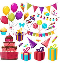 Birthday Party Icon Set vector image