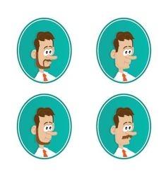 icons beard mustache vector image vector image