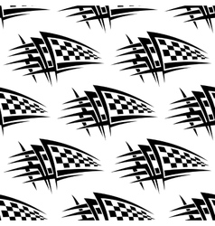 Seamless pattern with tribal racing tattoo vector image vector image