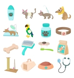 Veterinary icons set vector image vector image