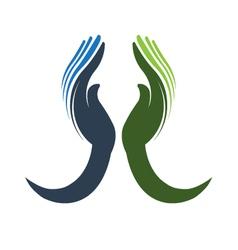 Devoted Hands Logo vector image