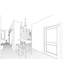 interior drawing vector image vector image