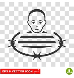 Isolated Prisoner EPS Icon vector image vector image