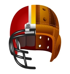 Old and new american football helmet vector image vector image