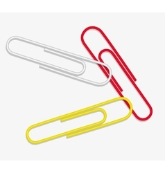 paper clip red white yellow vector image vector image