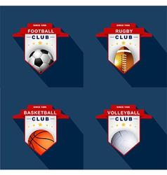 Sports labels badge emblem vector image vector image