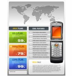 telecom provider flyer vector image