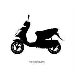 Black silhouette of city motorcycle vector image