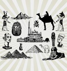 egyptian set vector image