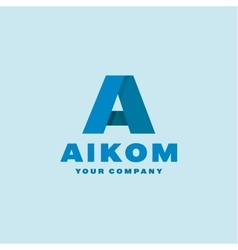 Logo letter A flat style vector image vector image