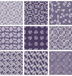 Monochrome violet retro style tiles vector image vector image