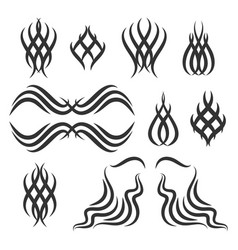 Simple tribal tattoo elements vector