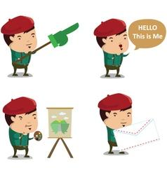 Artist mascot 1 vector