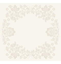 Birthday background with floral pattern vector image