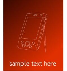 PDA vector image vector image