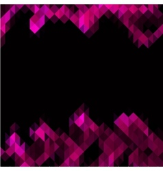 Pink triangles set as frame for text vector image vector image