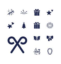 13 xmas icons vector